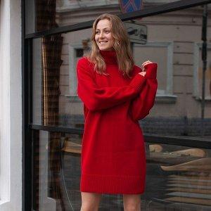 Платье вязаное Эмили 54-2343/вишневый