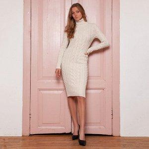 Платье вязаное Меган 54-2331/молочный