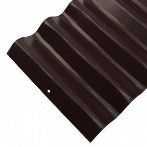 Ограждение для клумбы, 110 ? 24 см, коричневое, «Волна», Greengo