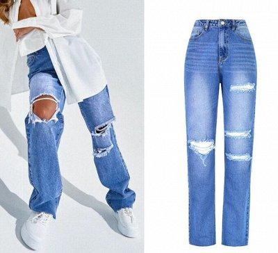 """🌸 Летнее обновление! Джинсы, футболки, майки, комбинезоны — """"Рваные"""" джинсы — Джинсы слим"""