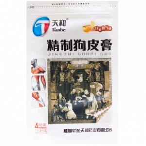 Пластырь Собачья кожа белый, Джинши Гупи Гао 8х13см, 4 пластины (Тяньхе)