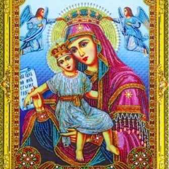 Рисование по номерам&Алмазки🎁Подарочки к 8 марта! — Алмазные мозаики Иконы 5D эффект 40*50см — Мозаики и фреска