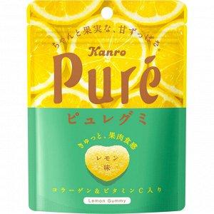 Жевательный мармелад 56гр Kanro Pure Gummi Lemon.