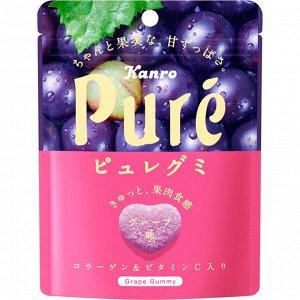 Жевательный мармелад 56гр Kanro Pure Gummi Виноград.