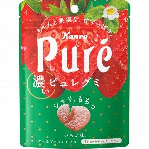 Жевательный мармелад 52гр Kanro Pure Gummi Клубника.