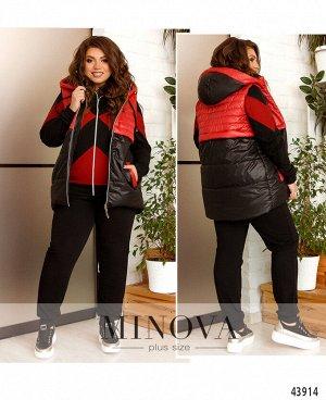 Спортивный костюм 3ка №17-255-черный-красный