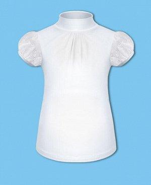 Школьная водолазка (блузка) с коротким рукавом для девочки Цвет: белый