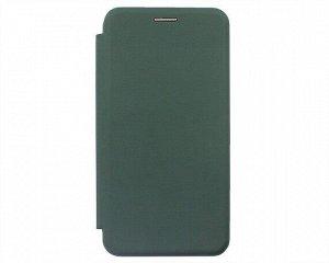 Чехол-книжка Soft-Touch универсальный с клеем 5.2-5.5'' (темно-зеленый)