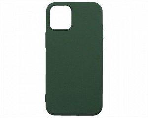 Чехол iPhone 12 Mini Microfiber (темно-зеленый)