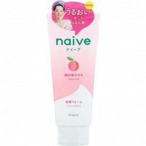 """60791kr """"Naive"""" Пенка для умывания и удаления макияжа с экстрактом листьев персикового дерева, 200г"""