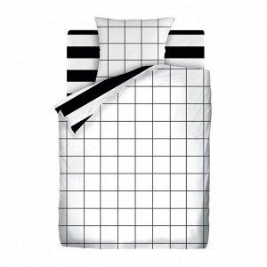 """КПБ перкаль 1.5 """"Crazy Getup"""" (70х70) Grid paper"""