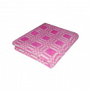 Одеяло байковое цветное комбинированная клетка  140*100