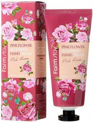 Farm Stay Pink Flower Blooming Hand Cream Pink Rose Крем для рук на основе экстракта розовой розы 100vk