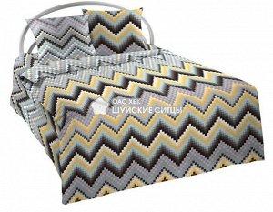 Постельное белье Шуя бязь без шва (пл. 142) 2 спальный с европростыней
