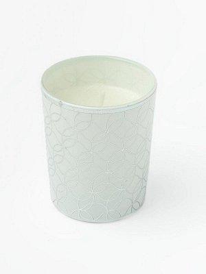 Свеча Dunglass Floox, 5,5х5,5х6,5 см, цв.белый, комб.мат-лы, вес 65 гр, в стеклянном стакане