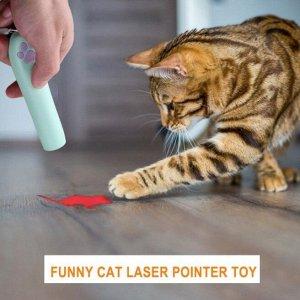 Лазерная игрушка с проекцией для кошек