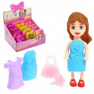 Кукла-малышка «Мира», в чемодане, с аксессуарами, МИКС