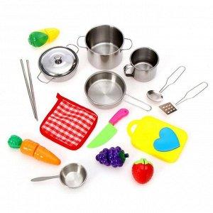 Набор металлической посуды «Повар» 15 предметов