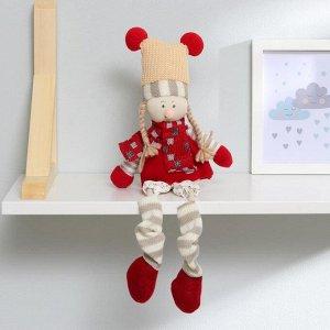 Кукла интерьерная «Зимний наряд», висячие ножки, виды МИКС