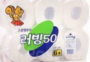 Туалетная бумага 3-х слойная с запахом (33м) 6 рулонов