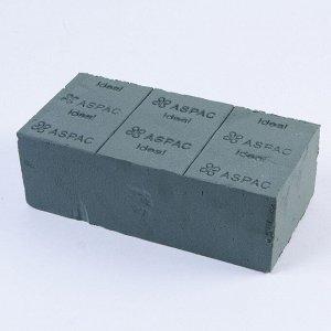 Оазис пена в форме кирпича Китай 23 х 11 х 8см. Цена за 1 шт.