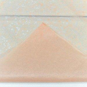 0001337/10 Бумага тишью 50*66 см персиковый (10 листов в упаковке) 1/250