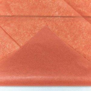 0001337/19 Бумага тишью 50*66 см красный апельсин (10 листов в упаковке) 1/250