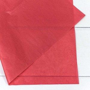 0001337/51-1 Бумага тишью 50*66 см красный (50 шт в упаковке) 1/50