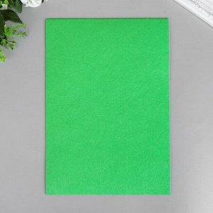 """Фетр жесткий 2 мм """"Темно-зелёный"""" набор 5 листов формат А4"""