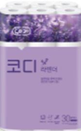 "Особомягкая туалетная бумага ""Codi  Lavender"" с ароматом лаванды (трехслойная, с тиснёным рисунком) 30 м *30 рулонов"