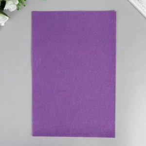"""Фетр жесткий 1 мм """"Фиолетовый"""" набор 10 листов формат А4"""