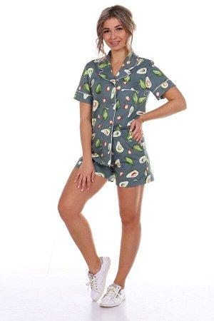 Пижама зелёная с шортами
