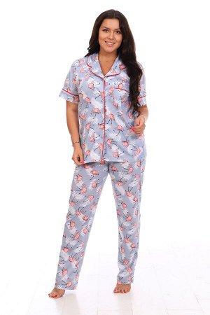 """Пижама с коротким рукавом """"Фламинго"""""""