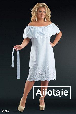 Сарафан в полосочку с белой вышивкой