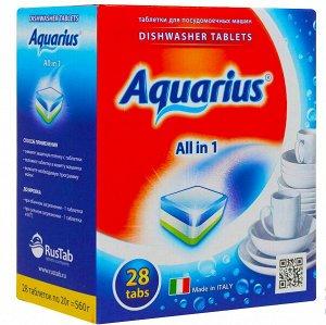 Таблетки AQUARIUS для ПММ All in1  28 таб