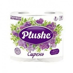 Plushe Deluxe т/б 3 слоя 4 рулона 15м Сирень