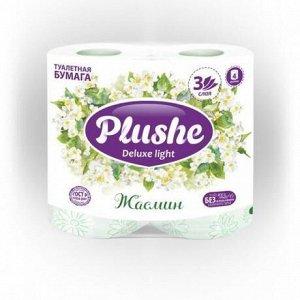 Plushe Deluxe т/б 3 слоя 4 рулона 15м Жасмин