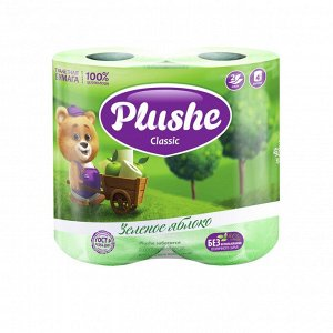 Plushe Classic т/б 2 слоя 4 рулона 18м Яблоко
