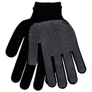 Перчатки Перчатки нейлоновые с ПВХ Цвет черный