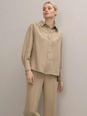 Однотонная рубашка B2571/ella