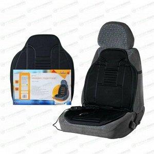 Накидка Airline AHC-SF-02 с подогревом, 12В, 35/45Вт, для передних сидений, ткань, черный цвет, 1шт