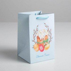 Пакет подарочный «Светлой Пасхи», 10 х 16 х10 см