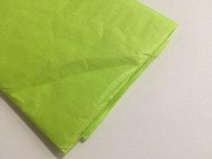 Бумага тишью (папиросная) 50*65см 10 листов цвет салатовый