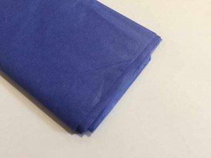 Бумага тишью (папиросная) 50*65см 10 листов цвет синий