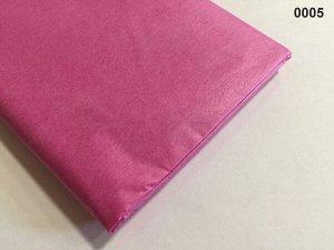 Бумага тишью (папиросная) 50*65см 10 листов цвет малиновый