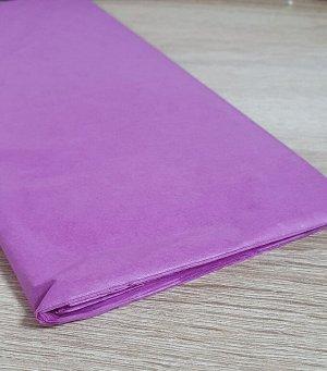 Бумага тишью (папиросная) 50*65см 10 листов цвет сиренево-розовый