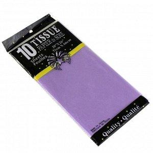 Бумага тишью (папиросная) 50*65см 10 листов цвет светло-фиолетовый