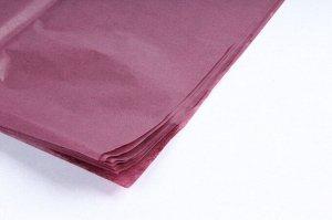 Бумага тишью (папиросная) 50*65см 10 листов цвет бордовый