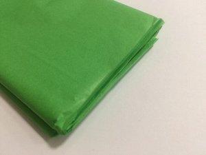 Бумага тишью (папиросная) 50*65см 10 листов цвет зеленый