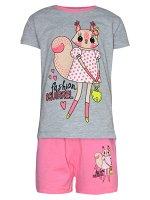 Комплект футболка и шорты для девочек арт. МД 005-15